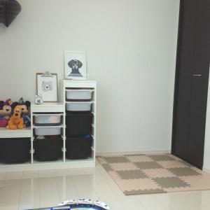 ■子供部屋のプレイマット&アイロンかけの場所