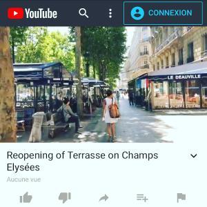 パリのテラスが営業再開 シャンゼリゼ散歩にお誘いします