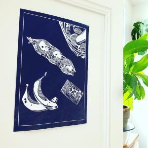 南仏の姉妹が作るハンドプリントのアートポスター アトリエ・ラルフ atelier larouf