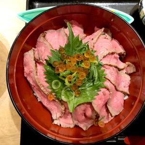 北新地 肉炭馨 和衷(ニクスミワチュウ)さんでローストビーフ丼ランチ。