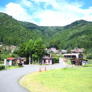 京都 美山かやぶきの里とボーダーコリー。