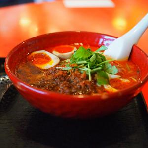 高槻 麺厨房 華燕(かえん)さんのシビ辛麻辣坦々麺。