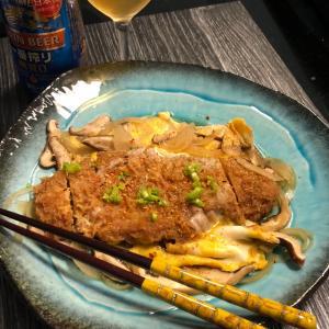 今日の夕食:かつ煮