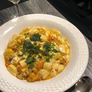 今日の夕食:上海蟹味噌豆腐
