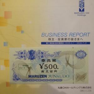 【株主優待】丸善CHI(3159)≪2020年7月権利≫