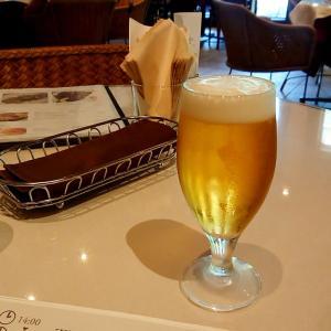 お外でビール