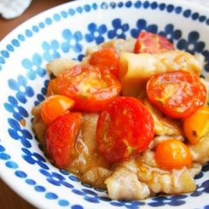 【424円主菜】プチトマト生姜焼き♪プチトマト切るだけで楽ちん!