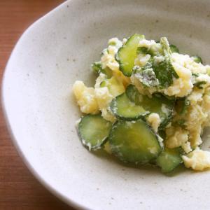 【135円副菜☆】簡単!和ポテサラ!じゃが芋・大葉のわさびマヨポテトサラダ