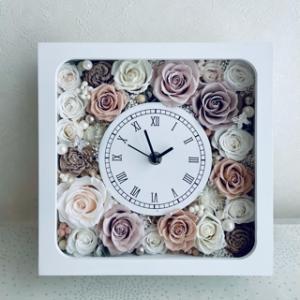 ニュアンスカラーの花時計