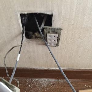 今日も電気工事