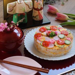 ひな祭りは水玉ちらし寿司。