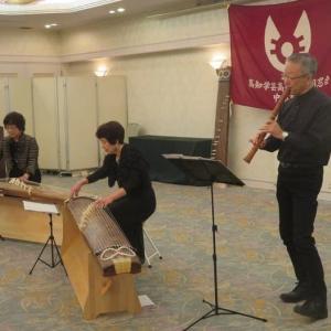楽書き雑記「高校の同窓会総会で琴と尺八の演奏を楽しみました」