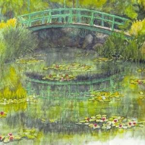 楽描き水彩画「今年も個展を中止=名古屋の佐藤英機さん」