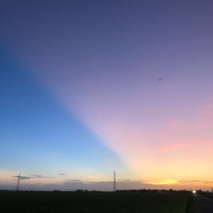 青空と夕焼け