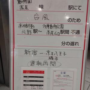 台風19号の翌日は多摩川で京王線を撮影する。