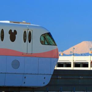 建国記念日はディズニーランドから富士山を撮影する。