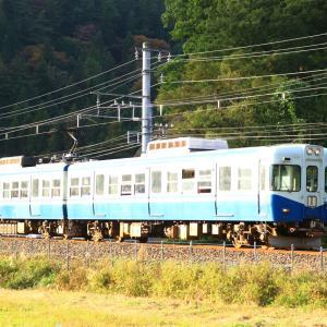 明日で引退する富士急行1202編成の引退ツアー列車を撮影。