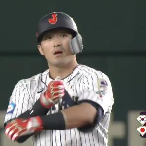 【プレミア12動画】大会打率5割!4番・鈴木誠也が反撃のタイムリーツーベース