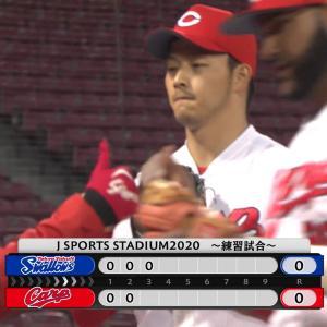 ⚾先発の薮田は3回で交代、1与四球無失点の好投【練習試合】