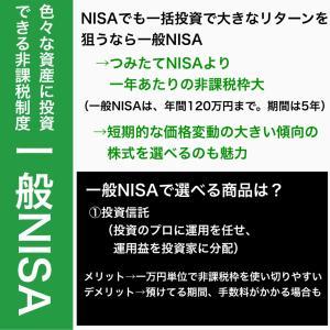 一般NISA色々な資産に投資できる非課税制度
