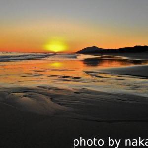ロングビーチの夕焼け
