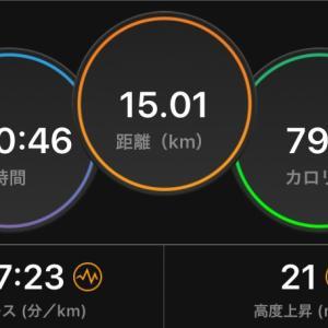 15kmのタイムトライアル。