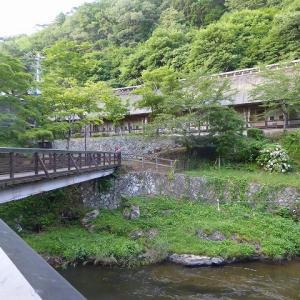 大沢温泉のかやぶき屋根の昔ギャラリー茅(ちがや)♪ 北海道&東日本パスで東北温泉巡りのひとり旅♪