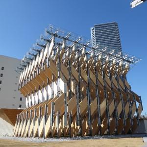 隈研吾さんの木がいっぱいの面白い建物見に行ってきたよ♪勝どきのCLT PARK HARUMI♪