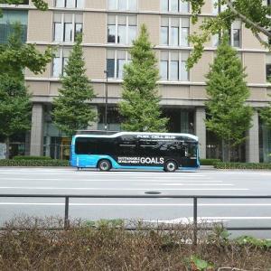 無料の水素バスに乗ってみたよ♪ 初めての水素バスは貸し切りだった♪