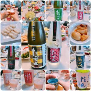 自宅で日本酒 (たかちよ) の会 & とん天の会