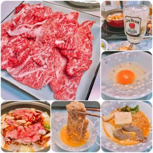 自宅で夕食 .278 (すき焼き)