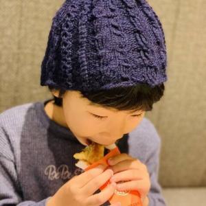 【編み物】ケーブル編み帽子&レッグウォーマー