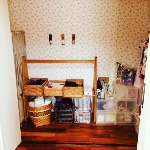 無印のカゴとオープン棚をDIY☆もっと洗濯を楽ちんに!
