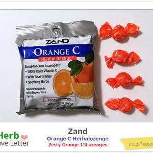 ★アイハーブで毎年リピートしてる大好きなのど飴★ブラウンライスシロップ使用で甘さ控えめ・フルーティ・ビタミンC入り・人工着色料 甘味料 フレーバ不使用・Zand(ザンド)のハーバロゼンジ オレンジC★Zand オレンジC Herbalozenge 心地よい刺激のある味のオレンジ★Zand, Orange C, Herbalozenge, Zesty Orange, 15 Lozenges