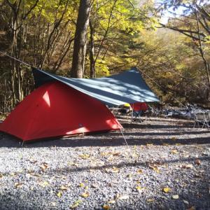 晩秋のソロキャンプ「奥道志オートキャンプ場」