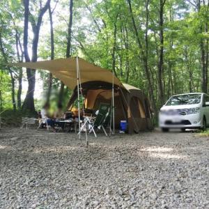 キャンプ初日 設営完了