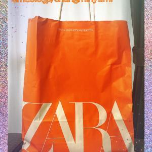 ★ZARAの派手すぎた袋で持ち帰ったセール購入品★