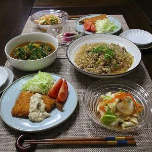 春雨とひき肉のピリ辛炒め煮