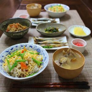 ザ・和食の晩ごはんは「ばら寿司」