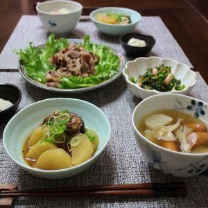 豚の焼肉と小かぶらの野菜スープが美味しい