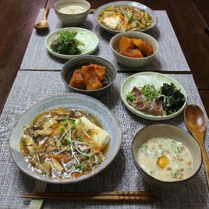 きのこや野菜のあんかけ豆腐