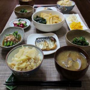 旬のたけのこが美味しい和食の食卓