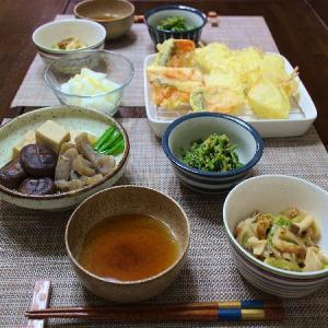 新玉ねぎの天ぷらが最高に美味しかった晩ごはん