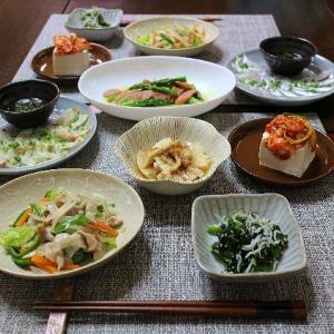 太刀魚とふぐのうす造りと野菜炒め