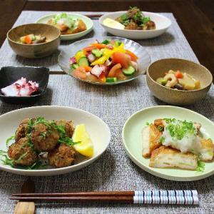 夏に美味しい豚キムチ団子とタコのマリネ