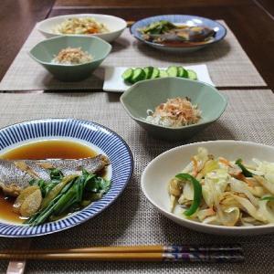 久しぶりの魚の煮つけ&野菜炒め