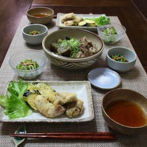 秋鮭の白子の天ぷらと茄子の天ぷら