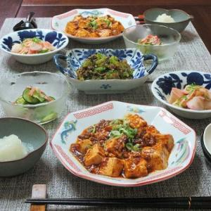 花山椒を使った麻婆豆腐やあざみ菜ちりめんの和え物