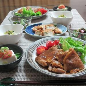 豚肉の生姜焼きと定番の副菜あれこれ♪