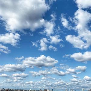 週末の雲 もくもく。